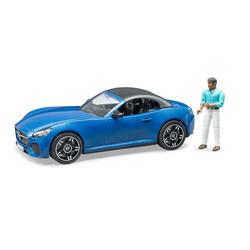Voiture Bruder Roadster et figurine conducteur