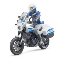Moto Scrambler Ducati Police avec motard