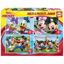 Multi puzzle Mickey et ses amis, 20, 40, 60, 80 pièces