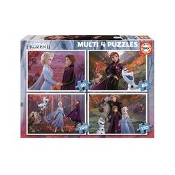 Multi puzzle la reine des neiges, 50, 80, 100, 150 pièces
