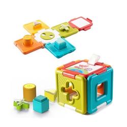 Cube 2 en 1 - Trieur de formes et puzzle