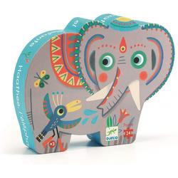 Puzzle 24 pièces éléphant Asie