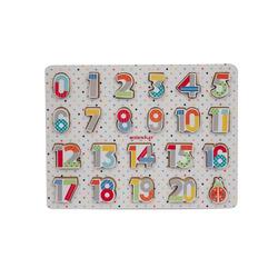 Puzzle en bois lettres OU chiffres
