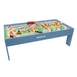 Table circuit en bois