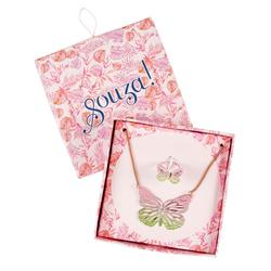 Boîte cadeau collier et bague papillon