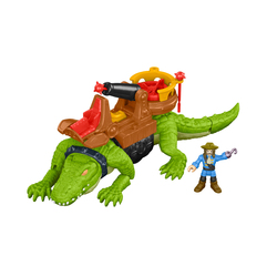 Figurine crocodile et capitaine crochet - Imaginext