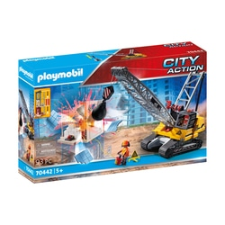 70442 - Playmobil City Action - Dragline avec mur de construction