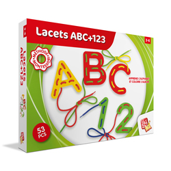 Lacets ABC+123 Montessori