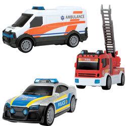 Sos team set ambulance, policier et pompier