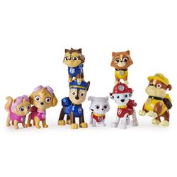 Coffret de 8 figurines Pat'Patrouille chiens et chats
