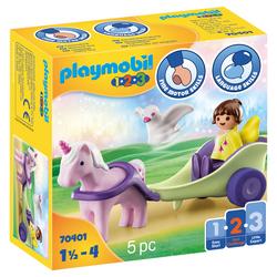 70401 - Playmobil 1.2.3 - Calèche avec licorne et fée