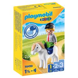 70410 - Playmobil 1.2.3 - Garçon avec poney