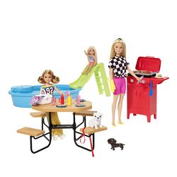 Coffret poupée Barbie - Piscine et Barbecue entre sœurs