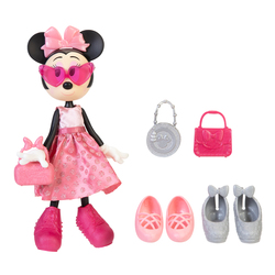 Coffret Poupée Disney Minnie Fashion avec accessoires de mode