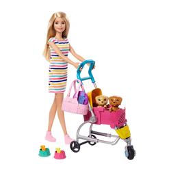 Poupée Barbie - Promenade des chiots