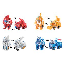 Pack 4 robots transformables 18 cm Super Wings