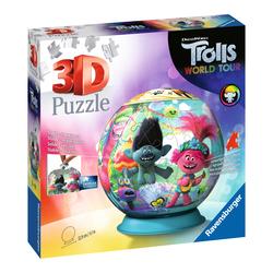 Puzzle 3D rond 72 pièces - Trolls 2