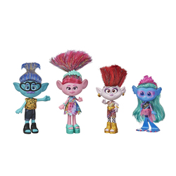 Pack 4 poupées fashion - Trolls
