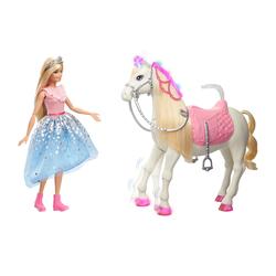 Poupée Barbie princesse et son cheval merveilleux