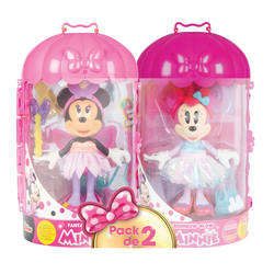 Pack 2 figurines Minnie Fashionnistas fée et arc-en-ciel - Disney Minnie