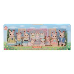 Sylvanian Families - 5506 - Coffret célébration famille lapin chocolat - Edition 35 ans