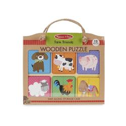 4 puzzles Ferme en bois en assortiment
