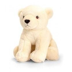 Peluche écologique ours polaire 25 cm
