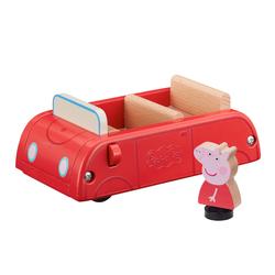 Voiture en bois et figurine Peppa Pig