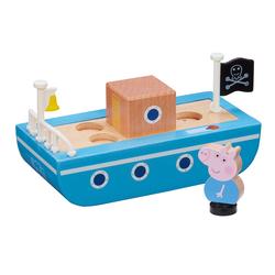 Bateau en bois et figurine Peppa Pig