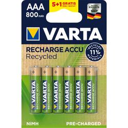 Piles rechargeables VARTA LR03 AAA 1800 mAH 5+1 gratuite