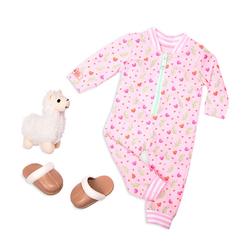 Tenue pour poupée Our Generation - Ensemble pyjama lama