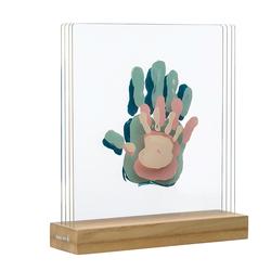 Cadre à empreintes en bois Family Prints