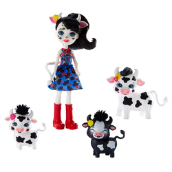 Poupée Enchantimals - Cambrie Vache, Ricotta et sa famille