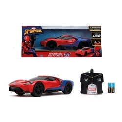 Voiture radio commandée Spiderman Ford GT 1/16 ème