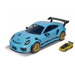 Voiture Porsche carry case 35 cm + 4 voitures 7,5 cm