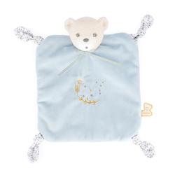 Perle - Doudou ourson bleu 4 noeuds - 20 cm