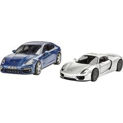 Coffret cadeau maquettes 2 voitures Porsche
