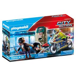 70572 - Playmobil City Action - Policier avec moto et voleur