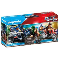 70570 - Playmobil City Action - Policier avec voiturette et voleur moto