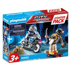 70502 - Playmobil City Action - Starter Pack Motard de police et voleur