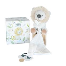 Unicef Pantin avec Doudou attache-sucette Lion