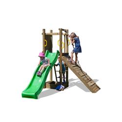 Aire de jeu FUNNY 3 : toboggan - rampe d'escalade - bac à sable