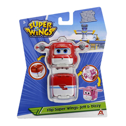 Figurines Super Wings Flip surprise Jett et Dizzy