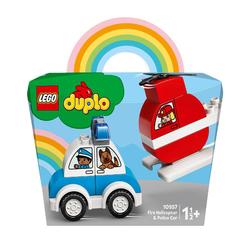10957 - LEGO® DUPLO - L'hélicoptère des pompiers et la voiture de police