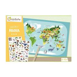 Boîte créative Decalco Mania Planisphère