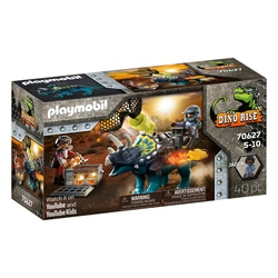70627 - Playmobil Dino Rise - Triceratops et soldats