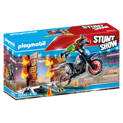 70553 - Playmobil Stuntshow - Pilote moto et mur de feu