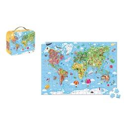 Puzzle Valise - Carte du monde - 300 pièces