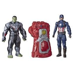 Gant électronique et figurines 30 cm Hulk et Captain America - Marvel Avengers