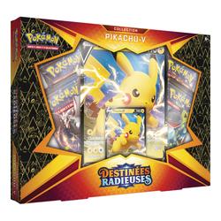 Coffret Pokémon de 4 Boosters 4,5 V Pikachu Destinées Radieuses